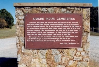 Apache Indian Cemeteries Marker image. Click for full size.