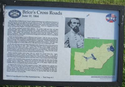 Brice's Cross Roads Marker image. Click for full size.