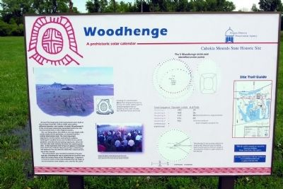 Woodhenge Marker in 2010 image. Click for full size.