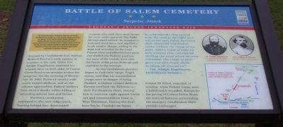 Battle of Salem Cemetery Marker image. Click for full size.
