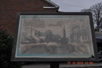Spring Hill, Tennessee ~ November 29, 1864 Marker image. Click for full size.