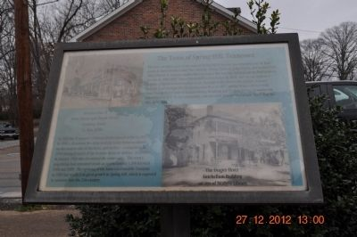 The Town of Spring Hill, Tennessee Marker image. Click for full size.