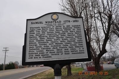 Samuel Winstead Marker (side 2) image. Click for full size.