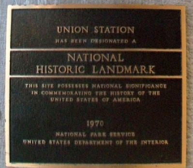 Union Station NHL Marker image. Click for full size.