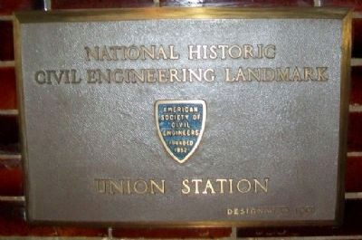 Union Station NHCE Landmark Marker image. Click for full size.