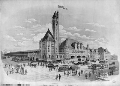 Grand Union Station, St. Louis, Mo. image. Click for full size.