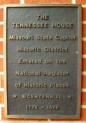The Tennessee House NRHP Marker image. Click for full size.
