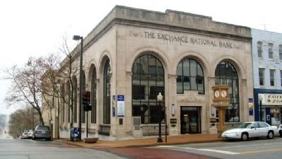 The Exchange National Bank Building and Marker image. Click for full size.