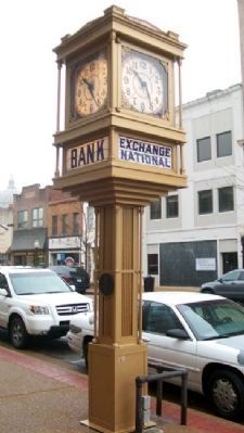 The Exchange National Bank Clock image. Click for full size.