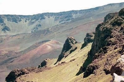 Haleakala National Park , Trails enter the cinder desert , as mentioned image. Click for full size.