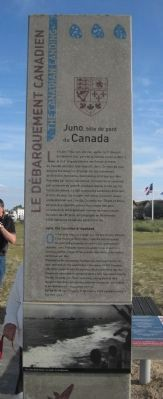 The Canadian Landing/Le Débarquement Canadien The Canadian Landing Marker image. Click for full size.