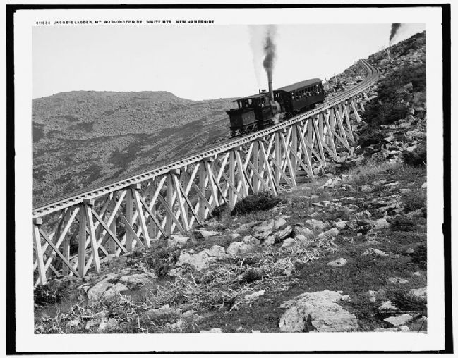 <i>Jacob&#39;s ladder, Mt. Washington Ry., White Mts., New Hampshire</i> image. Click for full size.