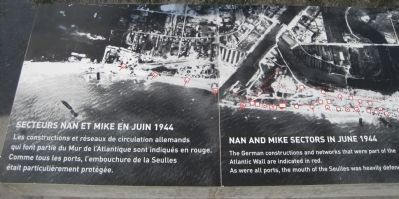 Nan and Mike Sectors in June 1944/Secteurs Nan et Mike en Juin 1944 image. Click for full size.