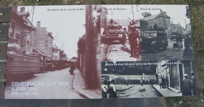 Courseulles-sur-Mer 6 juin 1944/6th June 1944 image. Click for full size.