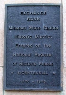 Exchange Bank Marker image. Click for full size.