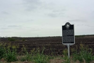 Pinkston Marker, amid cotton country image. Click for full size.