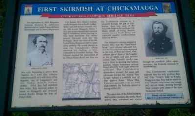 First Skirmish at Chickamauga Marker image. Click for full size.