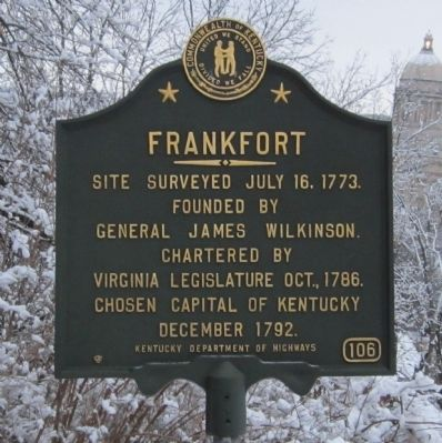 Frankfort Marker image. Click for full size.