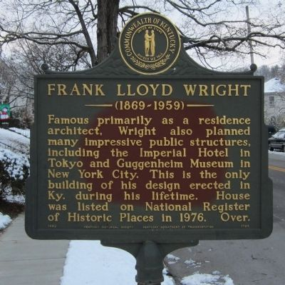 Frank Lloyd Wright Marker image. Click for full size.