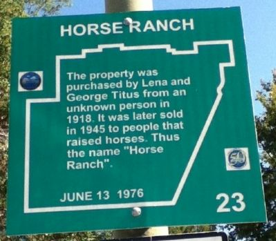 Horse Ranch Marker image. Click for full size.
