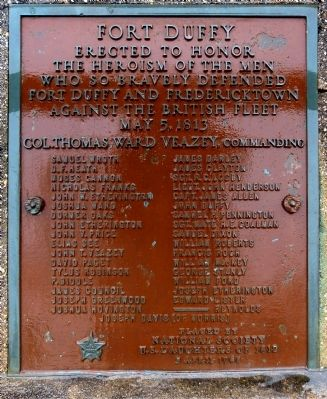 Fort Duffy Marker image. Click for full size.