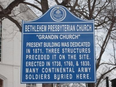 Bethlehem Presbyterian Church Marker image. Click for full size.