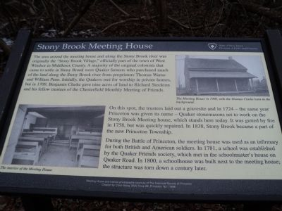 Stony Brook Meeting House Marker image. Click for full size.