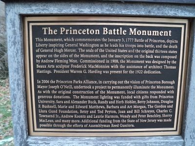 The Princeton Battle Monument Marker image. Click for full size.