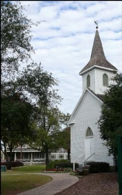Historic St. John's Church and Staiti House in distance image. Click for full size.