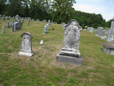 Parker Tombstones in Jones Cemetery image. Click for full size.