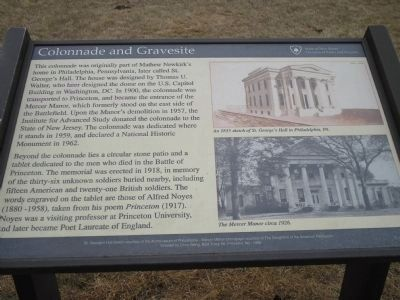 Colonnade and Gravesite Marker image. Click for full size.