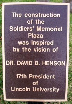 Soldiers' Memorial Plaza Vision Marker image. Click for full size.