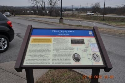 Winstead Hill Marker image. Click for full size.