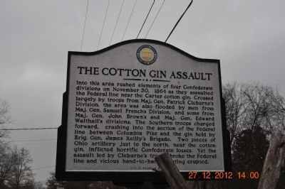 The Cotton Gin Assault Marker image. Click for full size.