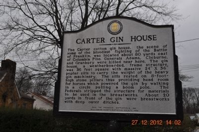 Carter Gin House Marker image. Click for full size.