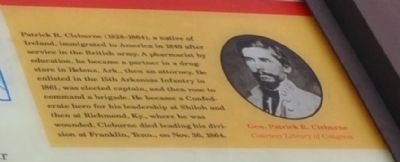 Patrick R Cleburne (1828-1864) image. Click for full size.