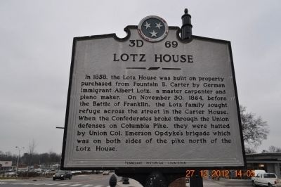Lotz House Marker image. Click for full size.