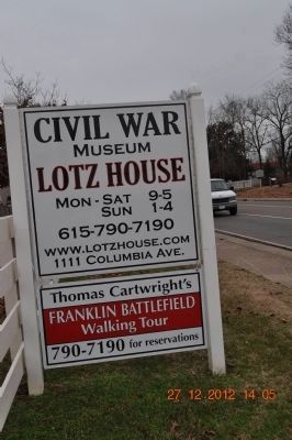Civil War Museum Lotz House image. Click for full size.