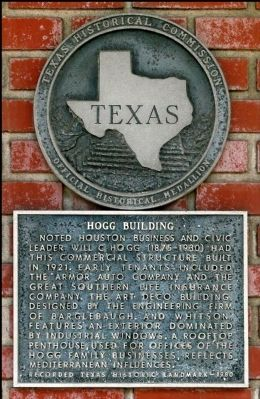 Hogg Building Marker image. Click for full size.