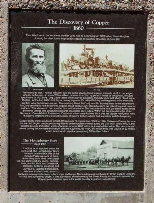 The Discovery of Copper Marker and Honigsberger Store Marker image. Click for full size.