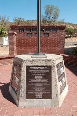 Copperopolis Historical Plaza Markers and Flagpole image. Click for full size.