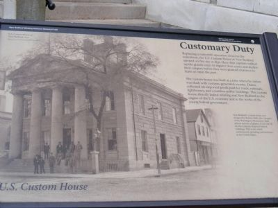 U.S. Customs House-Customary Duty Marker image. Click for full size.