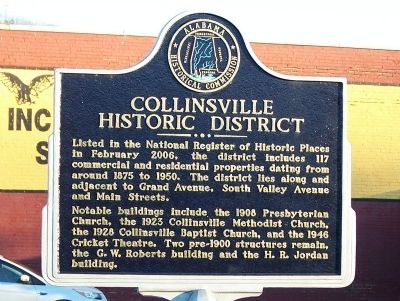 Collinsville Historic District Marker image. Click for full size.