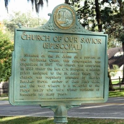 Church of Our Savior Marker image. Click for full size.
