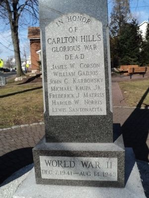 Carlton Hill World War II Memorial image. Click for full size.