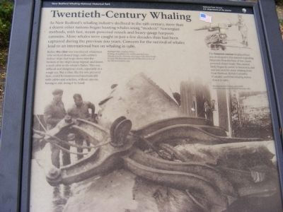 Twentieth-Century Whaling Marker image. Click for full size.