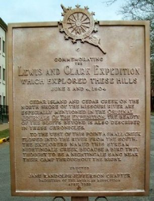 Lewis and Clark Expedition Marker image. Click for full size.