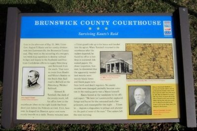 Brunswick County Courthouse CWT Marker image. Click for full size.