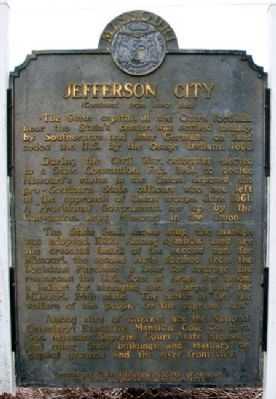 Jefferson City Marker (Back) image. Click for full size.
