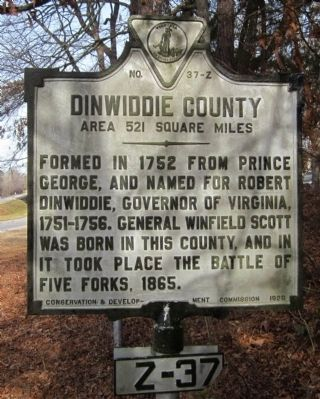 Dinwiddie County Marker image. Click for full size.
